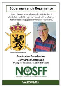 Hans Högman - Södermanlands Regementes historia @ Koordinaten i Oxelösund